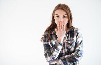 Girl Seeking Bad Breath Treatment Marietta GA