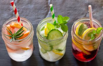 Refreshing Water With Fruits